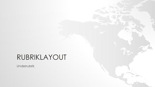 Presentation i världskarteserien, Nordamerika (bredbildsformat)