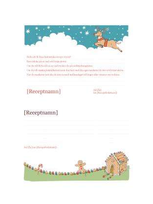 Receptkort med jultema