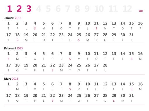 Kvartalskalender 2015