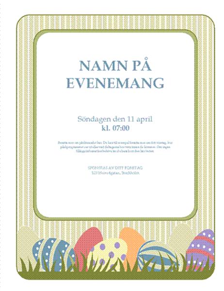 Reklamblad för påskfirande (med ägg)