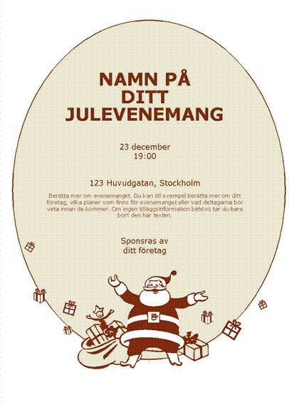 Reklamblad med jultomte