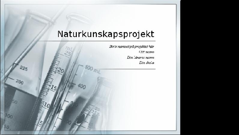 Projekt för medverkan vid vetenskapsutställning (presentation)