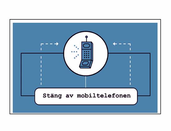 Affisch för påminnelse om mobiltelefon