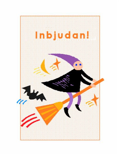 Inbjudan till Halloween-fest