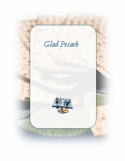 Pesach-kort (med måltid)