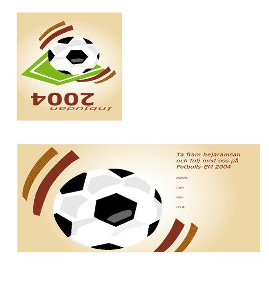 Inbjudan till fotbollsfesten