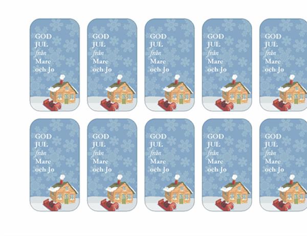Presentetiketter (vinterinspirerad design, fungerar med Avery 5871, 8871, 8873, 8876 och 8879)