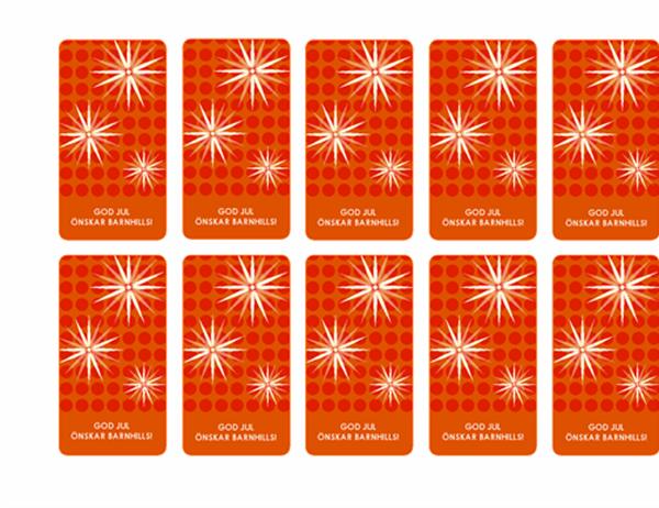 Presentetiketter (snömotiv, fungerar med Avery 5871, 8871, 8873, 8876 och 8879)