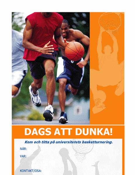 Inbjudan till basketfest