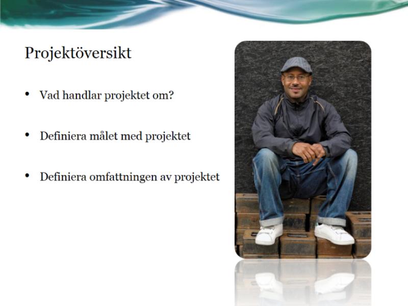 Presentation av projektstatusrapport