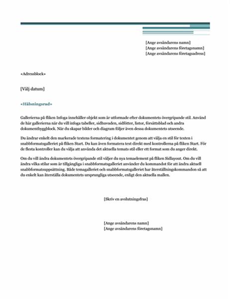 Brev för dokumentkoppling (strikt)