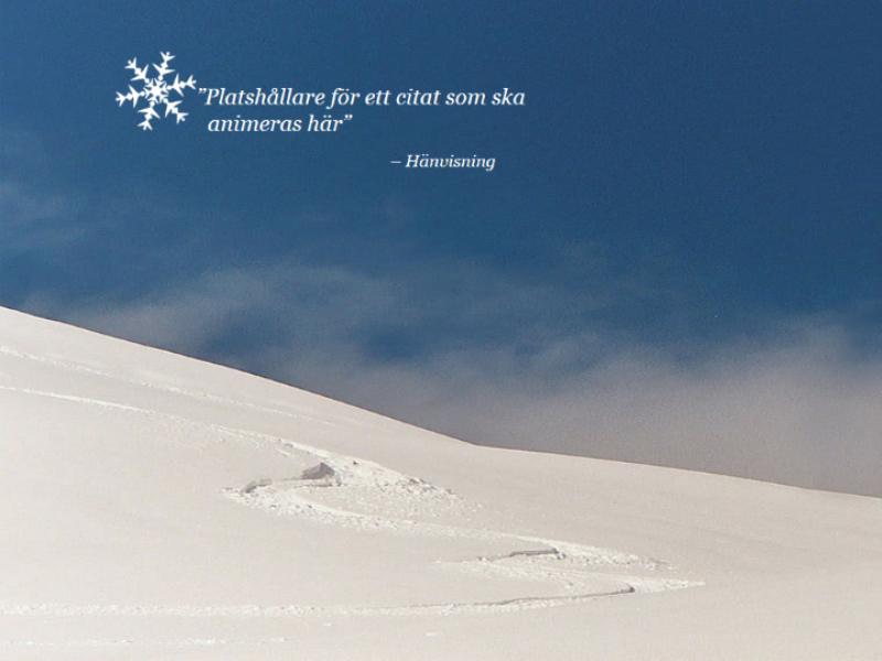 Animerat snölandskap