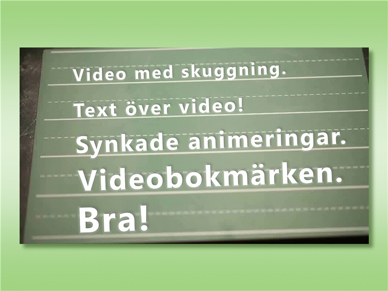 Text över video
