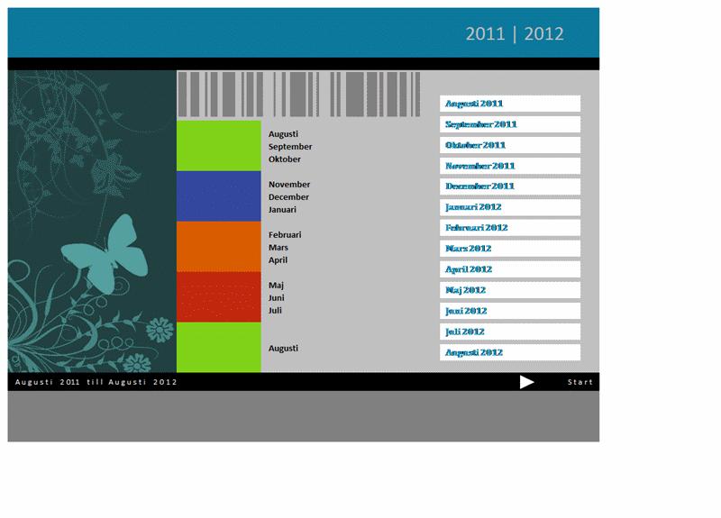 Skolårskalender för 2011–2012 (må till sö)