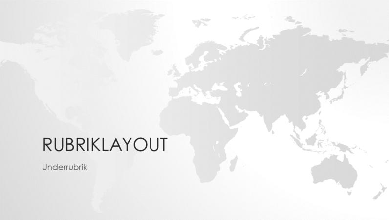 Världskarteserien, presentation med världen (bredskärm)