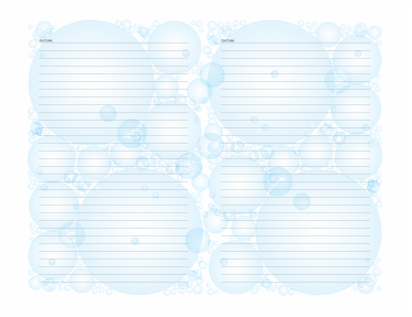 Dagbokssidor (bubblor, liggande)