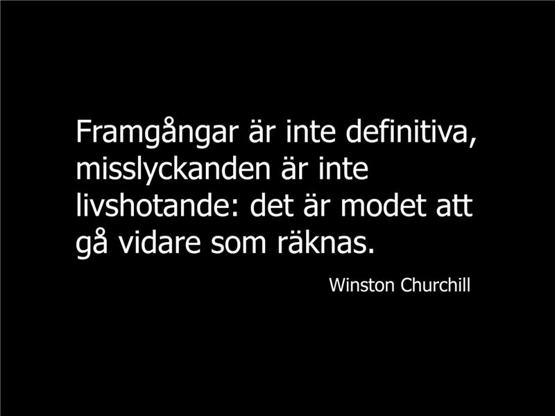 Bild med Winston Churchill-citat