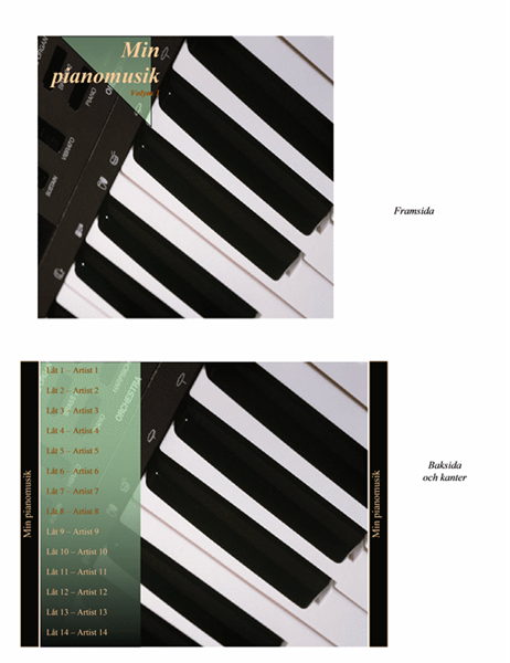 CD-omslag (för pianomusik)