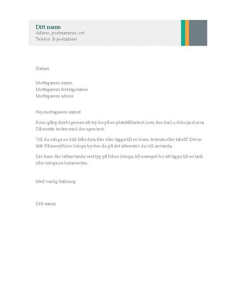 Affärsbrev (design med ränder)