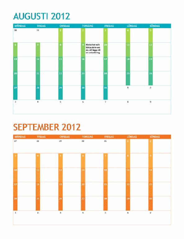 Akademisk kalender (mån-sön)