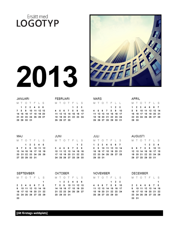 Kalender (mån-sön)