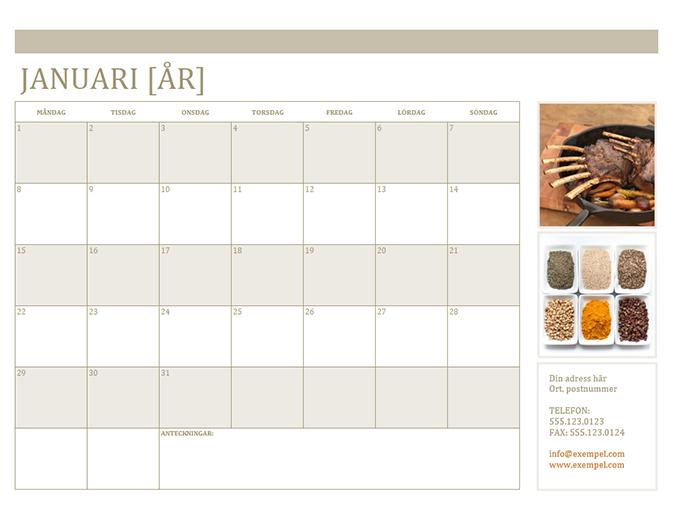 Fotokalender (mån)