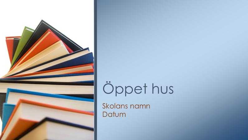 Presentation för öppet hus i skolan
