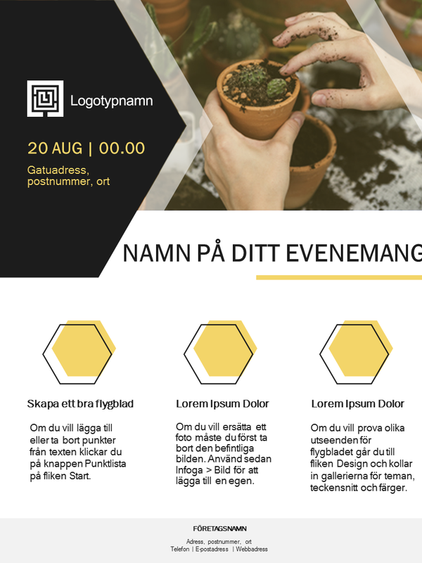 Reklamblad i Small Business (gulddesign)