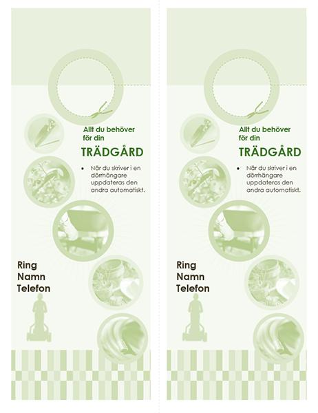 Dörrhängare för trädgårdsföretag (2 per sida)