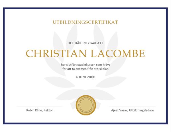Utbildningscertifikat