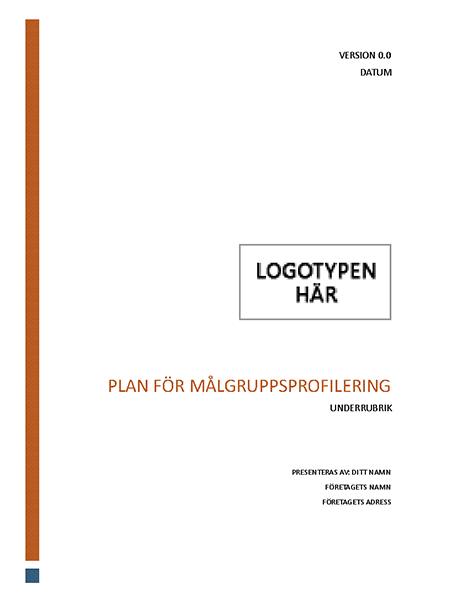 Plan för målgruppsprofilering