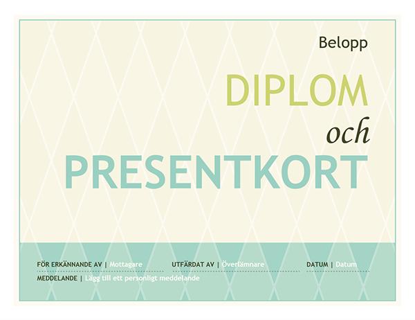 Diplom (harlekindesign)