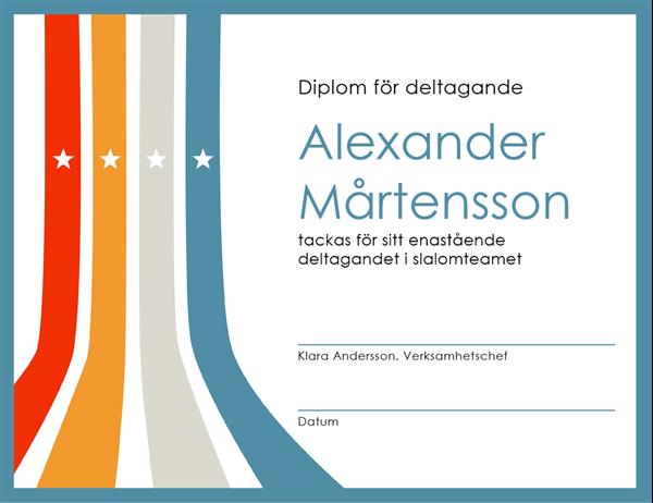 Diplom för deltagande