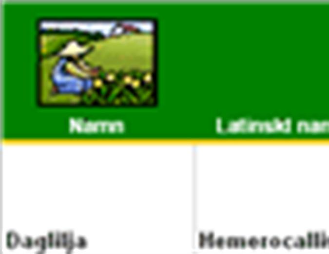 Plantförteckning