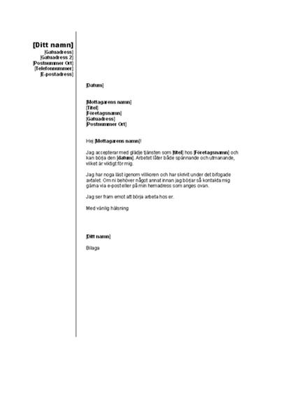 Acceptera erbjudande om anställning (lodrätt tema)