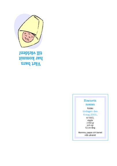 Meddelande om nyfött barn