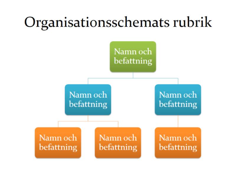 Enkelt organisationsschema