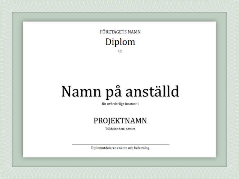 Diplom (anställda)