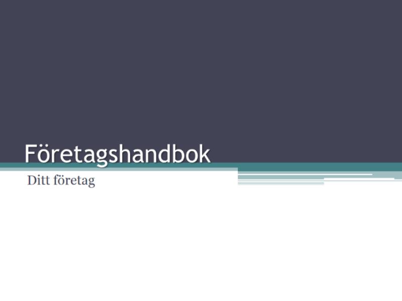 Företagshandbok
