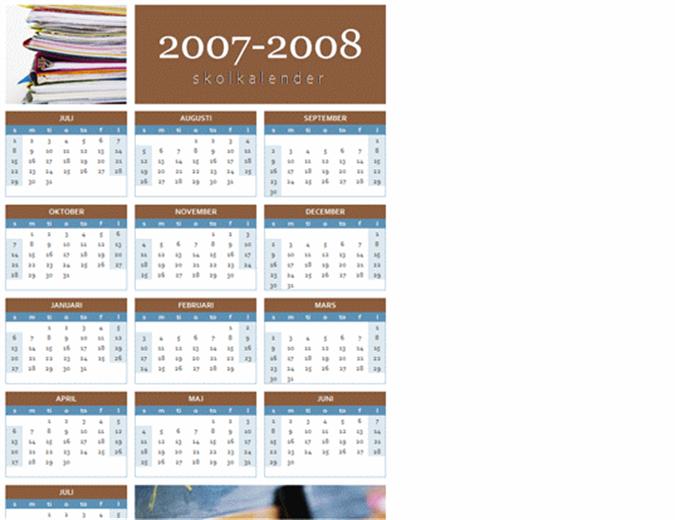 Utbildningskalender för 2007-2008 (1 sida)