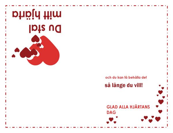 Alla hjärtans dag-kort (hjärtdesign)