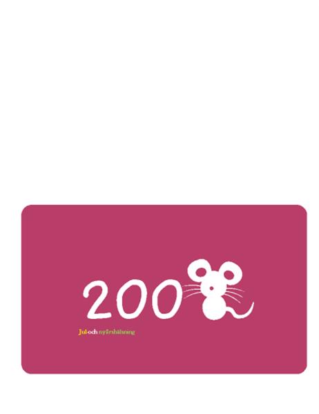 Hälsningskort (2008 - råttans år, vikt A5)