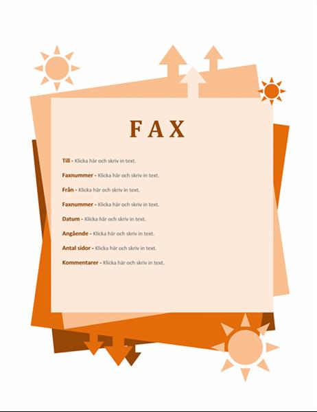 Fax cover sheet (Autumn)