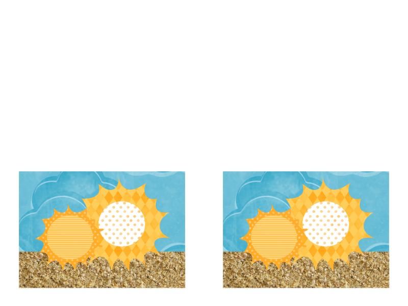 Inbjudan (sol och sand)