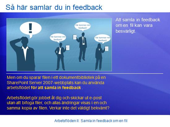 Utbildningspresentation: SharePoint Server 2007 – Arbetsflöden II: Samla in feedback om en fil