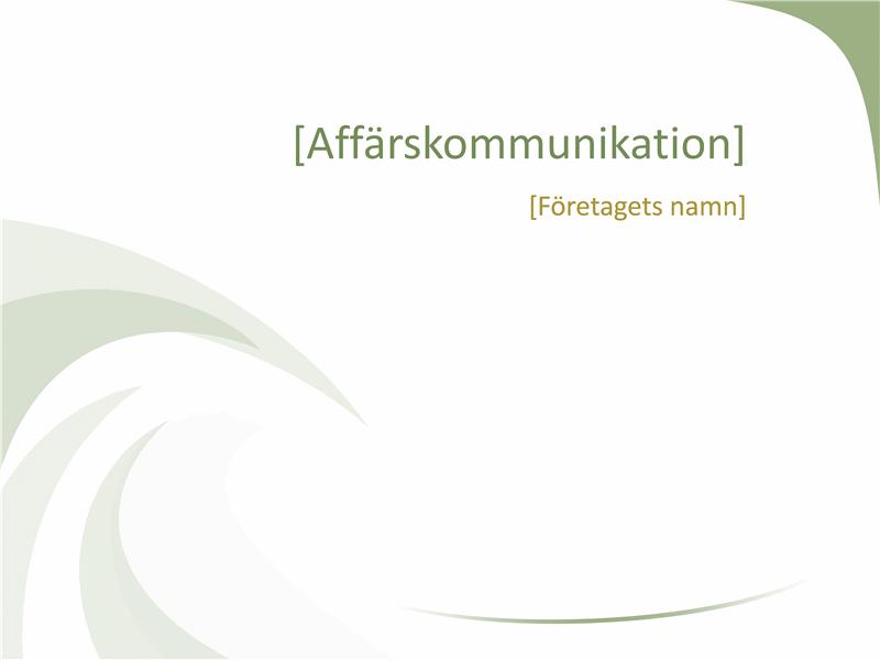 Bilder med affärsdesign (designen Grön våg)