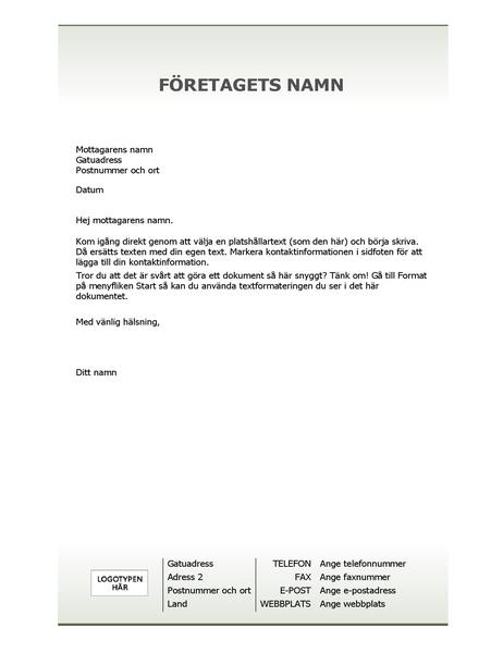 Mall för företagsbrevhuvud (enkel design)