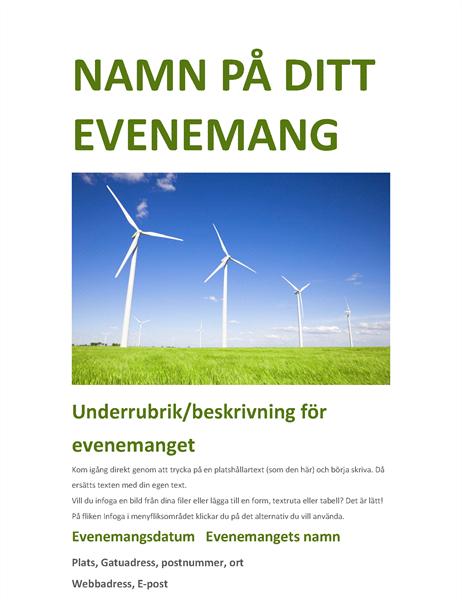 Flygblad för evenemang (grönt)