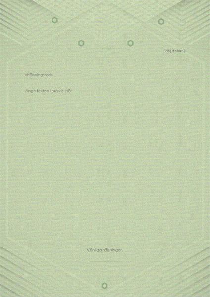 Mall för personliga brev (elegant grågrön design)