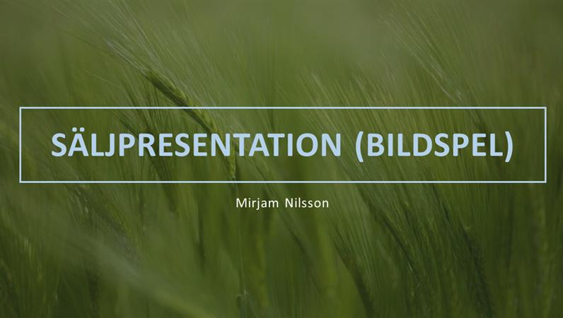 Grön säljpresentation (bildspel)